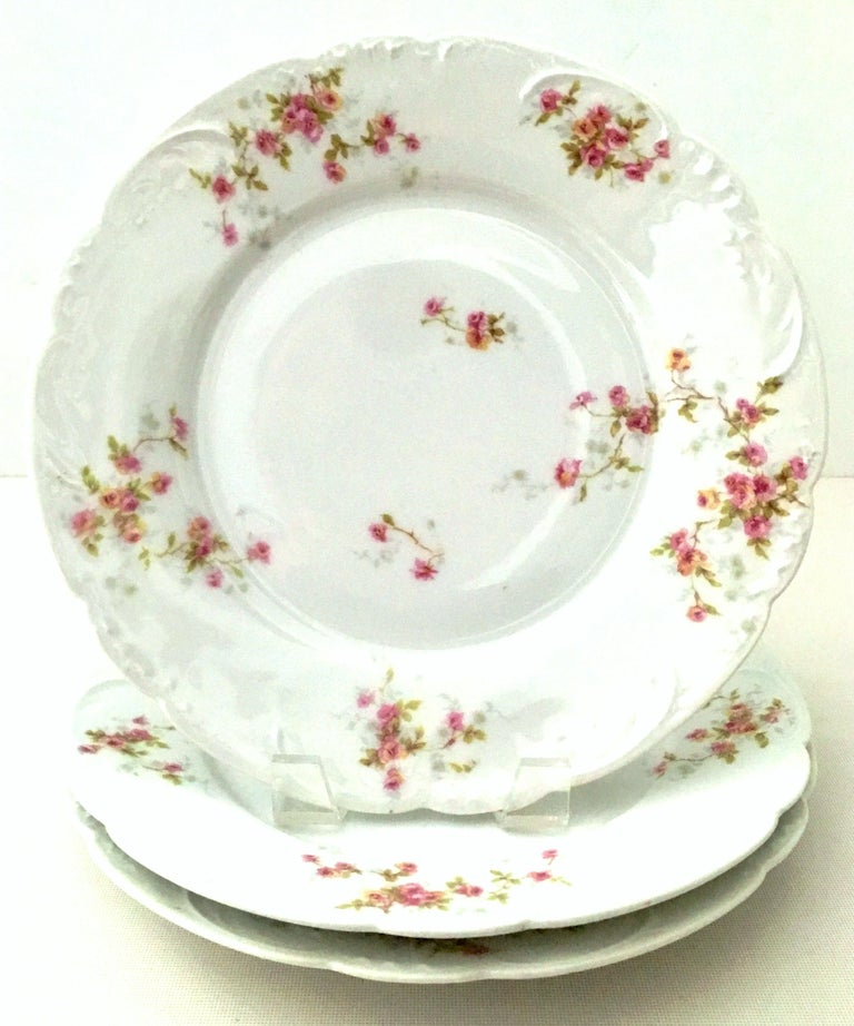 Art Nouveau 20th Century French Limoges Dinnerware by Theodore Haviland Set of Nine Pieces For Sale