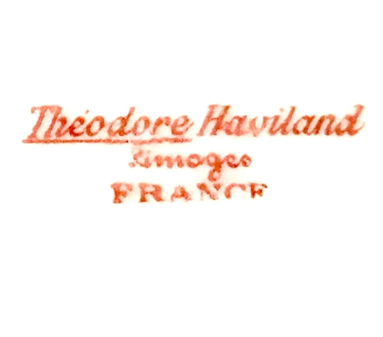 20th Century French Limoges Dinnerware by Theodore Haviland Set of Nine Pieces For Sale 4