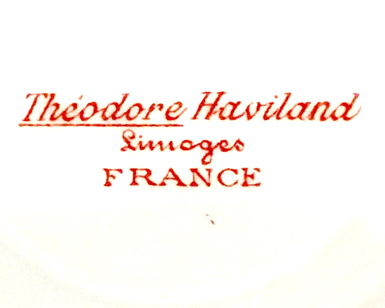 20th Century French Limoges Set of Three Serving Pieces by, Theodore Haviland For Sale 13