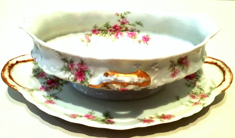 20th Century French Limoges Set of Three Serving Pieces by, Theodore Haviland In Good Condition For Sale In West Palm Beach, FL