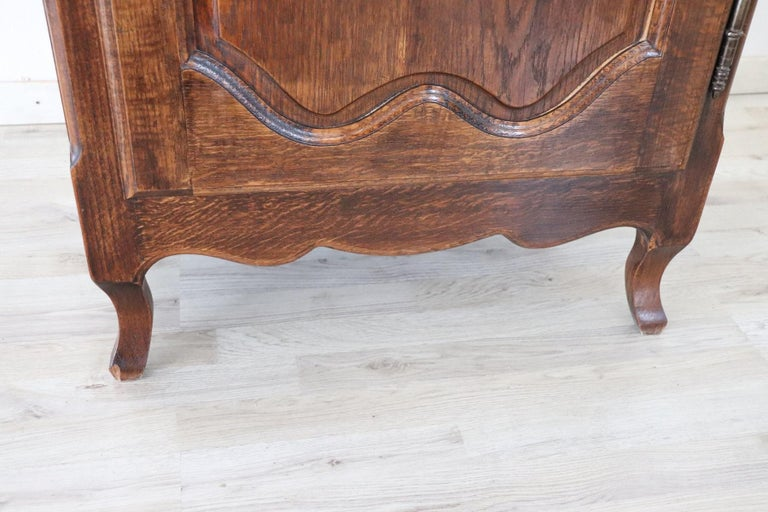 Mid-20th Century 20th Century French Louis XIV Style Oakwood Small Sideboard, Buffet or Credenza