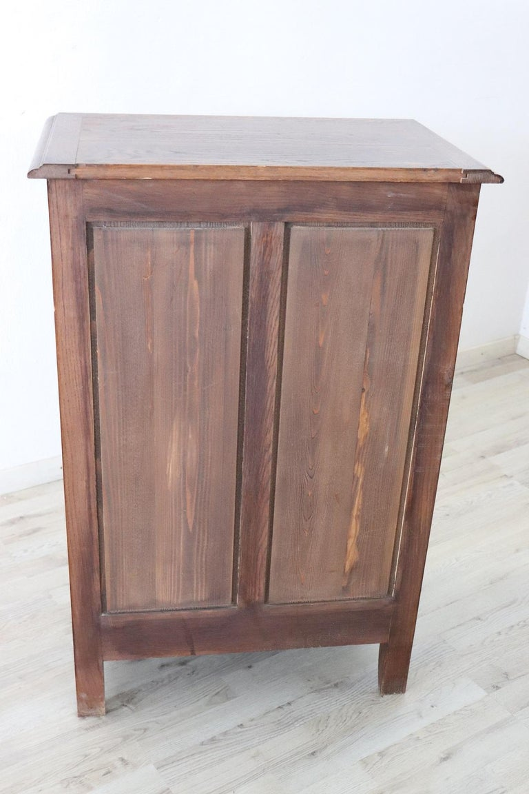 20th Century French Louis XIV Style Oakwood Small Sideboard, Buffet or Credenza 3