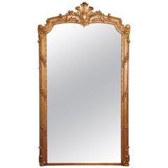 20th Century, French Louis XV Grand Gilt Mirror