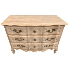 20th Century French Louis XV Style Beech Commode, 1940s