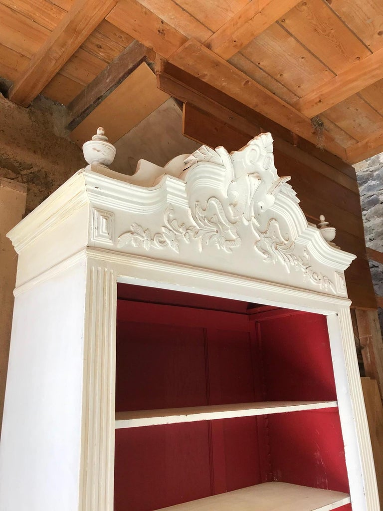 Early 20th Century 20th Century French Louis XV Style Painted Armoire, 1920s For Sale