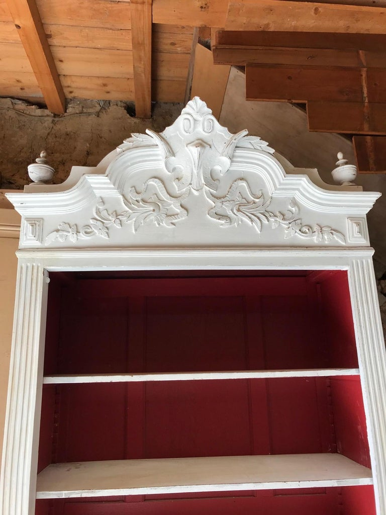 20th Century French Louis XV Style Painted Armoire, 1920s For Sale 2