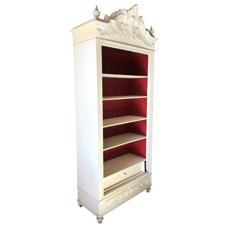 20th Century French Louis XV Style Painted Armoire, 1920s For Sale