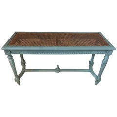 20th Century French Louis XVI Style Painted Bench, 1920s