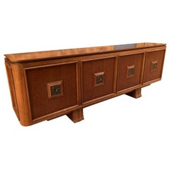 20th Century French Maxime Old Bronze and Oak Buffet, 1940s