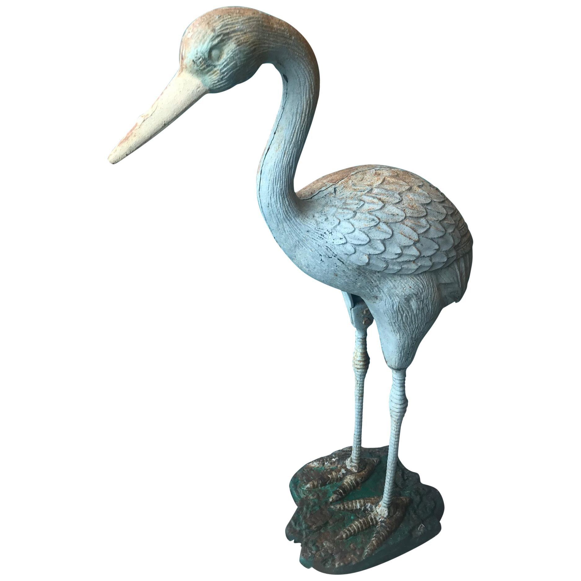 20th Century French Metal Heron, 1930s