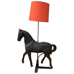 20th Century French Metal Horse Floor Lamp, 1950s
