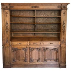 20th Century French Oak Bibliotheque Cabinet, 1920s