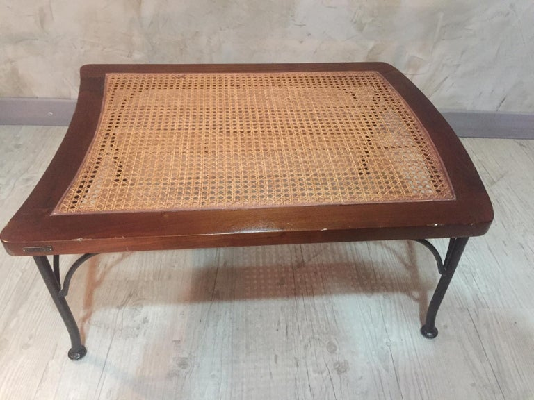 20th Century, French Oak Caned Luggage Rack, 1980s For Sale 2