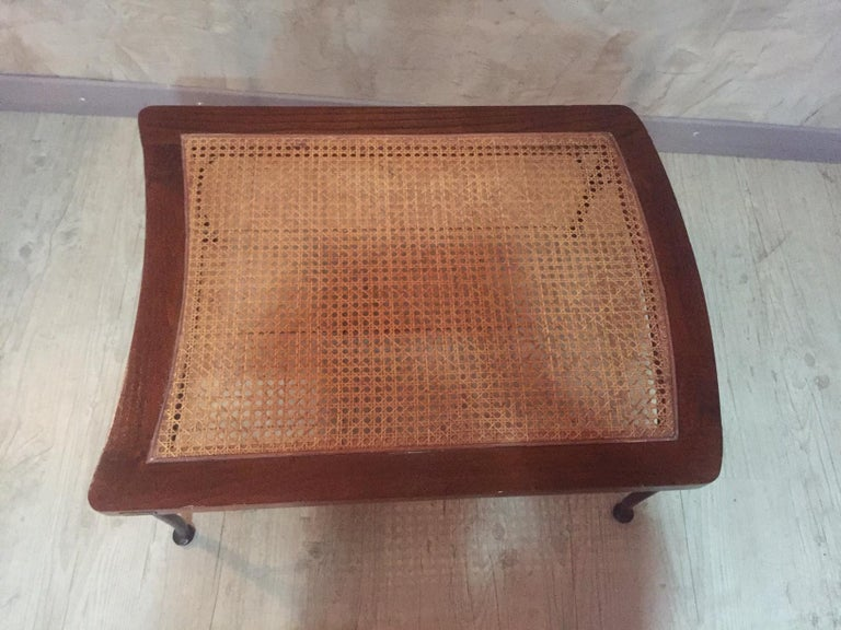 20th Century, French Oak Caned Luggage Rack, 1980s For Sale 3