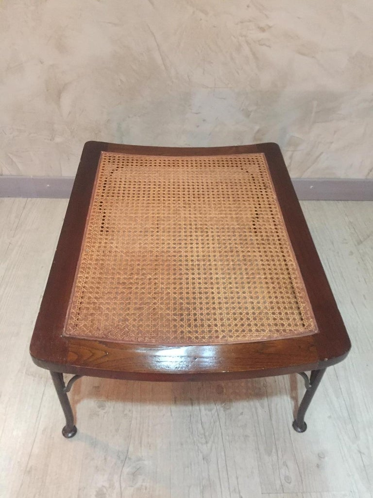 20th Century, French Oak Caned Luggage Rack, 1980s For Sale 4
