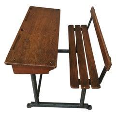 20th Century French Oak Doll Desk, 1920s