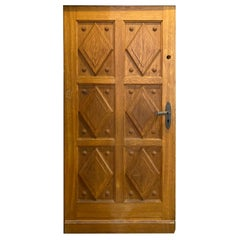 20th Century French Oak Entry Door