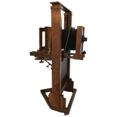 20th Century French Oak Louis Schrambach Camera from Paris Studio, 1920s