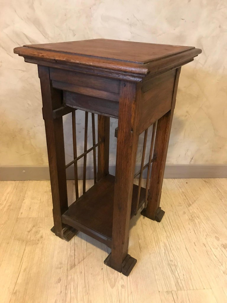 20th Century French Oak Side Table, 1920s For Sale 2