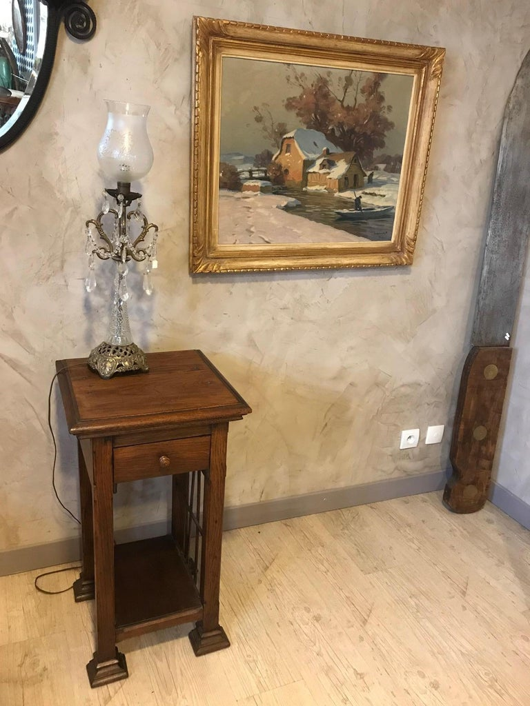 20th Century French Oak Side Table, 1920s For Sale 4