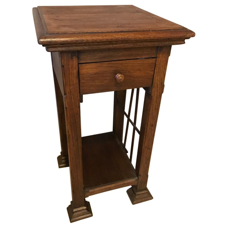 20th Century French Oak Side Table, 1920s For Sale