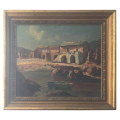 20th Century French Oil on Canvas Signed Pierre Bach