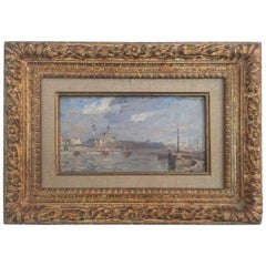 20th Century French Oil on Wood