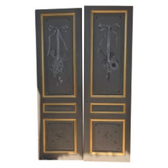 20th Century French Painted Double Doors, 1900s