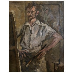 20th Century French Painting, Self Portrait by Daniel Clesse