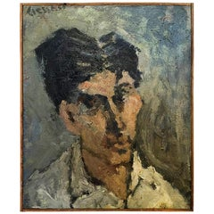 20th Century French Painting, Small Self-Portrait of Daniel Clesse