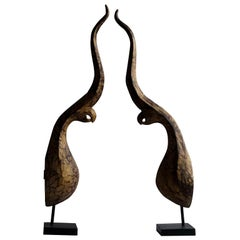 20th Century French Pair of Gilded Wood Architectural Elements, Contemporary Art