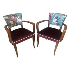 20th Century French Pair of Reupholstered Armchair, 1920s