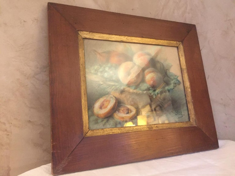 20th Century French Pastel Drawing Signed Polme, 1920s In Good Condition For Sale In LEGNY, FR