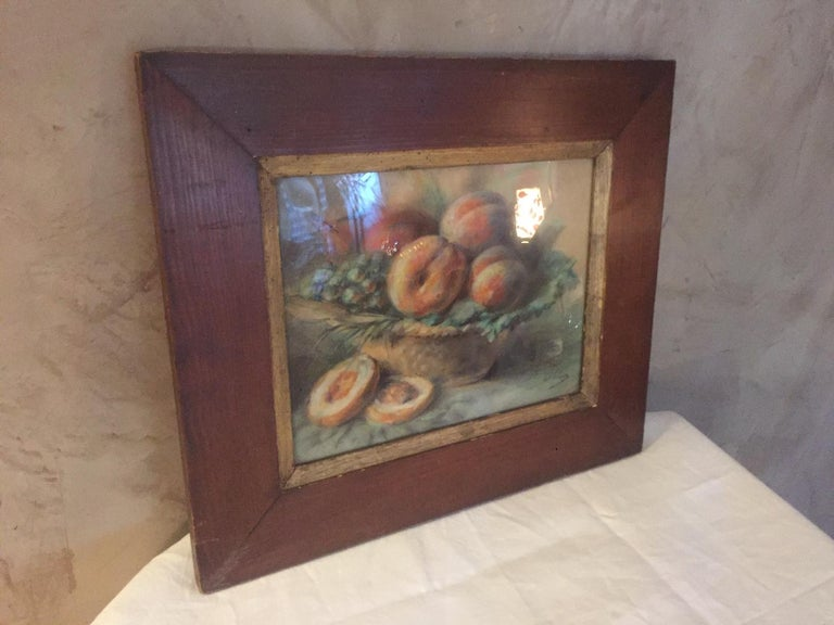 Early 20th Century 20th Century French Pastel Drawing Signed Polme, 1920s For Sale