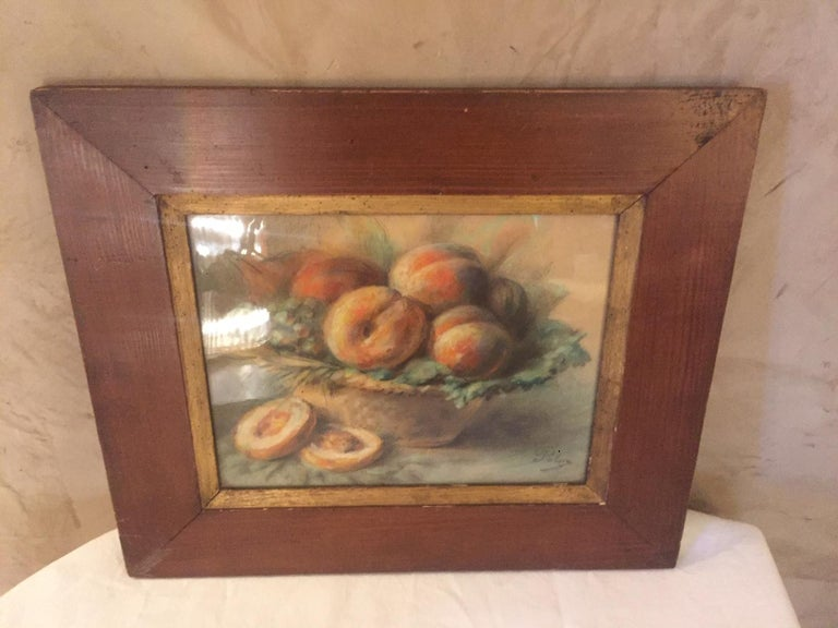 20th Century French Pastel Drawing Signed Polme, 1920s For Sale 1