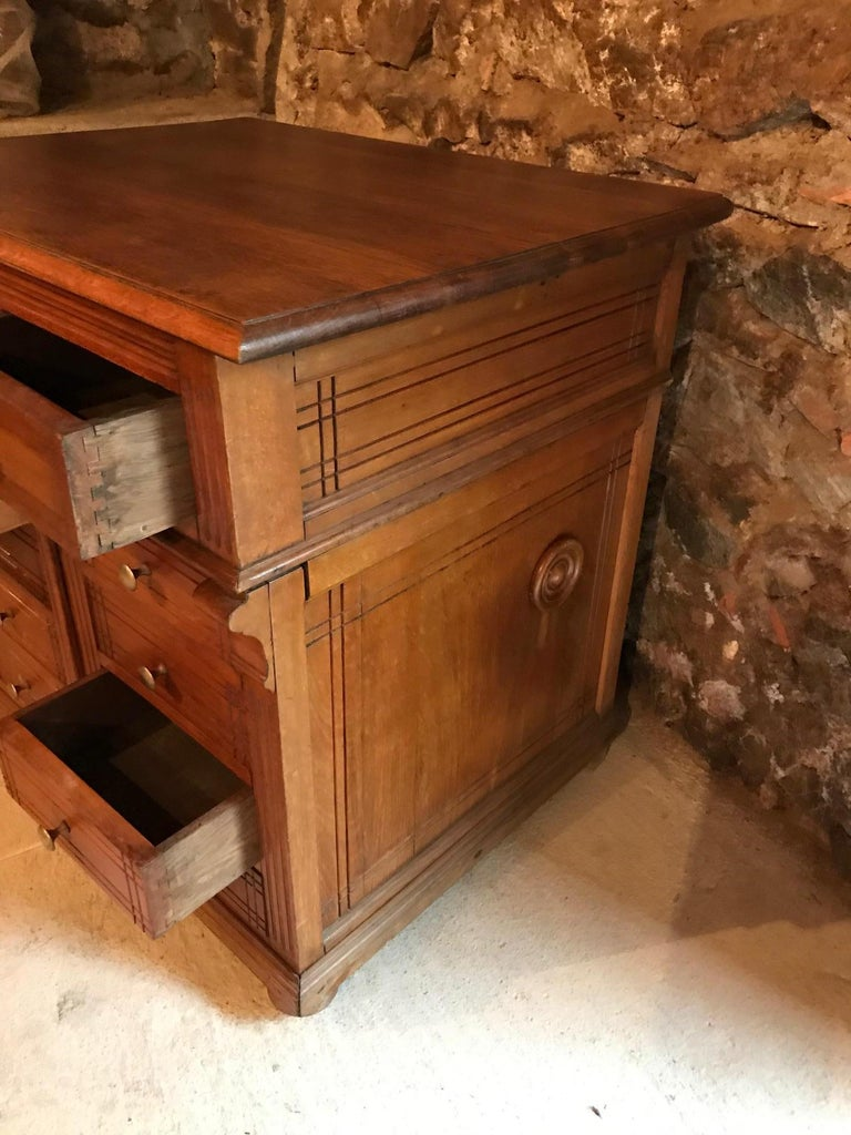 20th Century French Pitchpin Chest of Drawers, 1920s For Sale 3