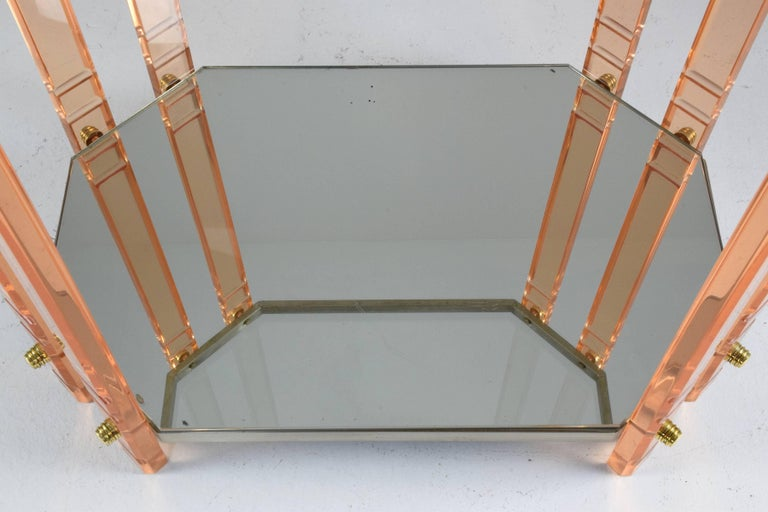 20th Century French Plexiglass Etagere or Bar Cart  For Sale 3