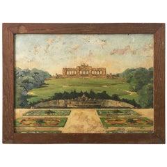 20th Century French School Oil Painting, Schönbrunn Palace Garden Gloriette