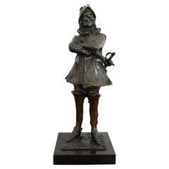20th Century French Sculpture in Bronze Cyrano De Bergerac Figure, 1940s