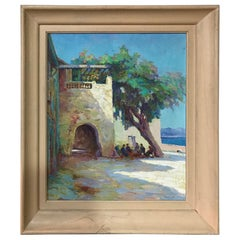 20th century French Seaside Oil on Canvas Signed Marchal, 1950s