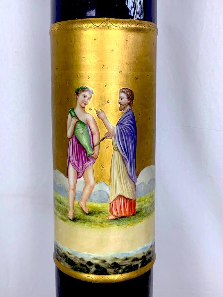 Belle Époque 20th Century French Sèvres Porcelain Pedestal For Sale