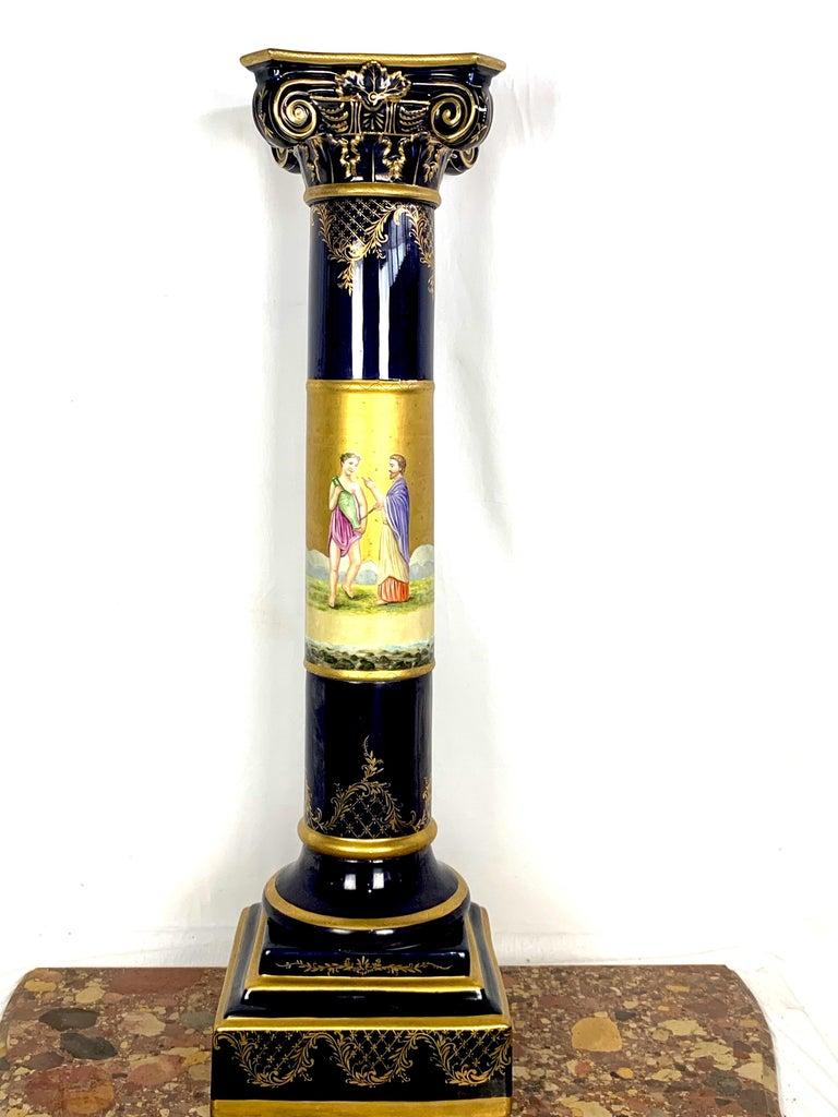 20th century French Sèvres Porcelain pedestal.
