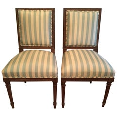 20th Century French Side Chairs, a Pair