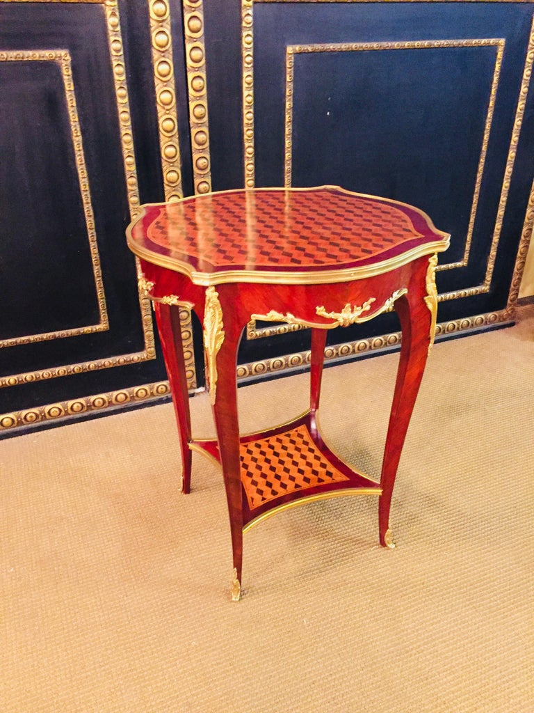 20th Century French Side Table after F. Linke For Sale 6