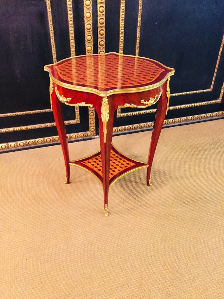 20th Century French Side Table after F. Linke For Sale 9