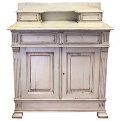 20th Century French Sideboard in Hand Painted Light Water Green Wood