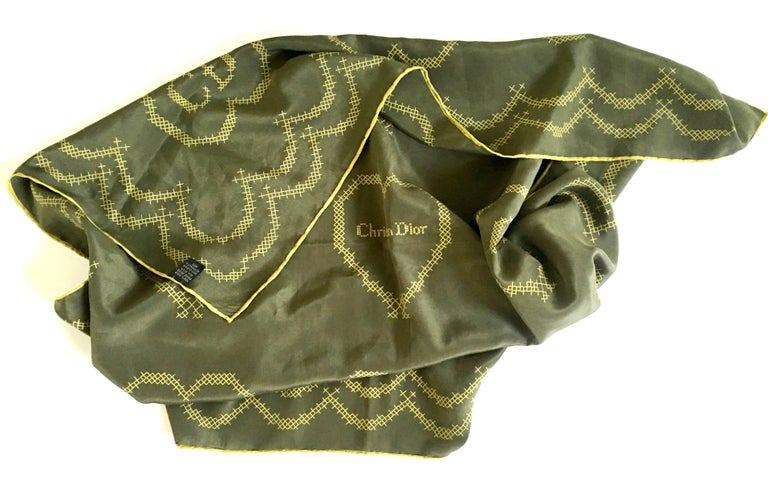 20th Century French Christian Dior military green 34