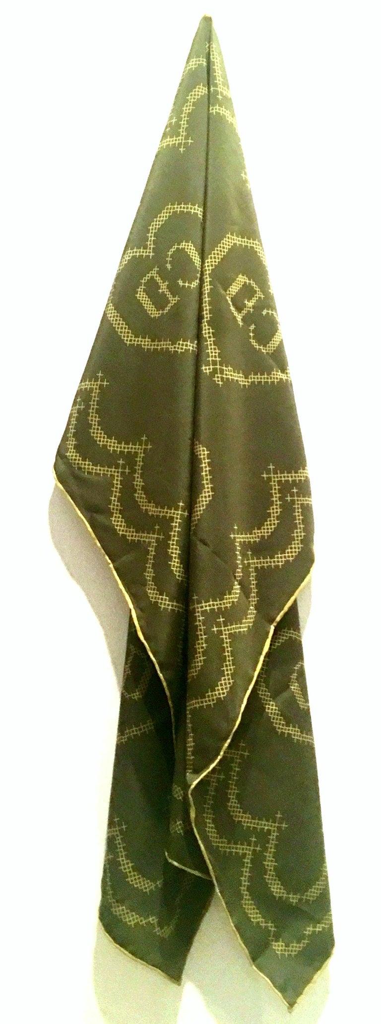 Brown 20th Century French Silk Christian Dior