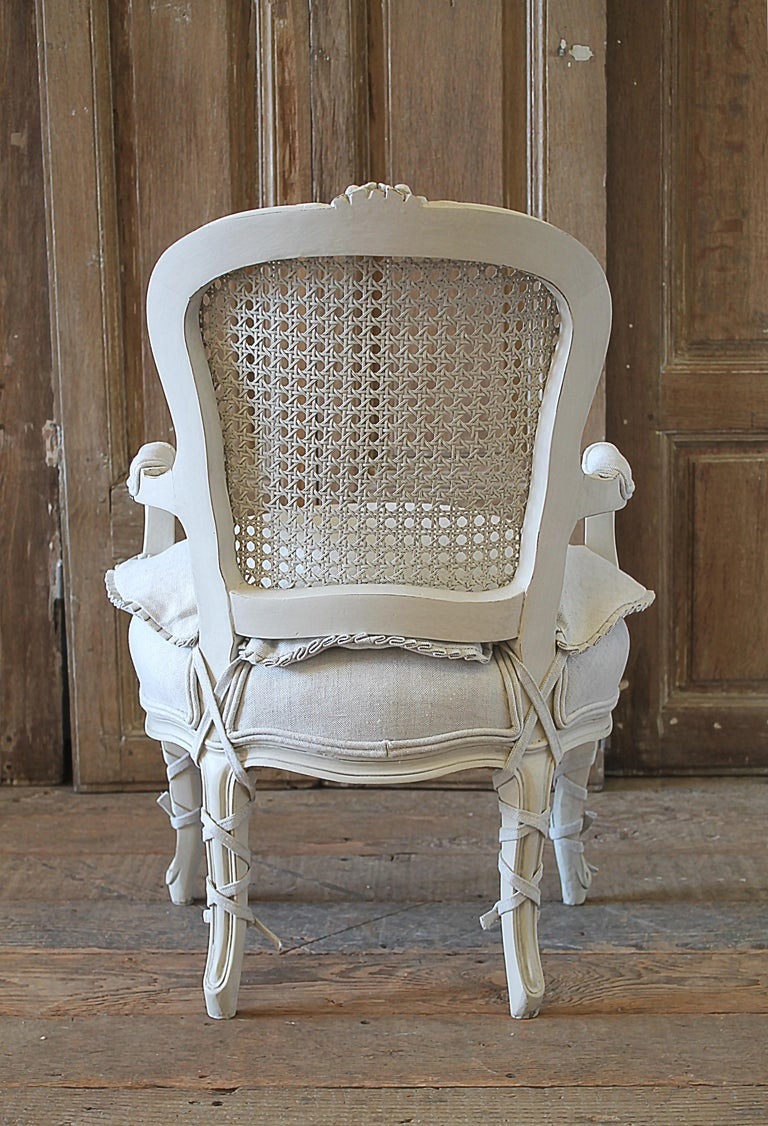 20th Century French Style Louis Xv Cane Back Childs Chair