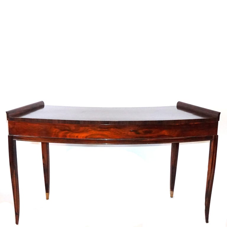 Mid-Century Modern 20th Century French Rosewood Three-Drawer Writing Desk For Sale